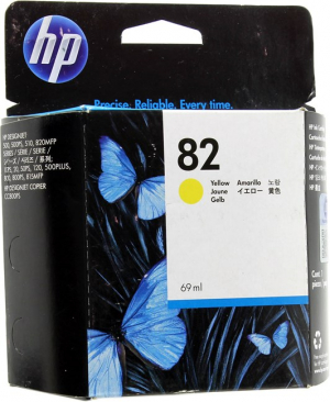 Картридж HP 82 (C4913A) для HP DesignJet 500/ 510/ 800/ 820 yellow